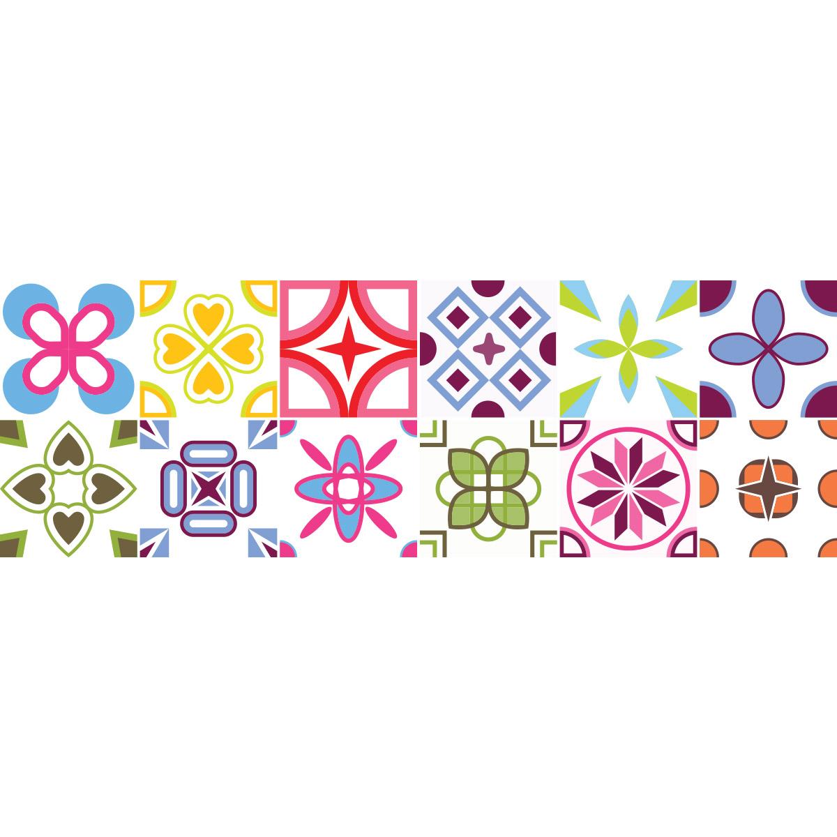 Stickers speciaux - 12 Stickers carrelages arabesques