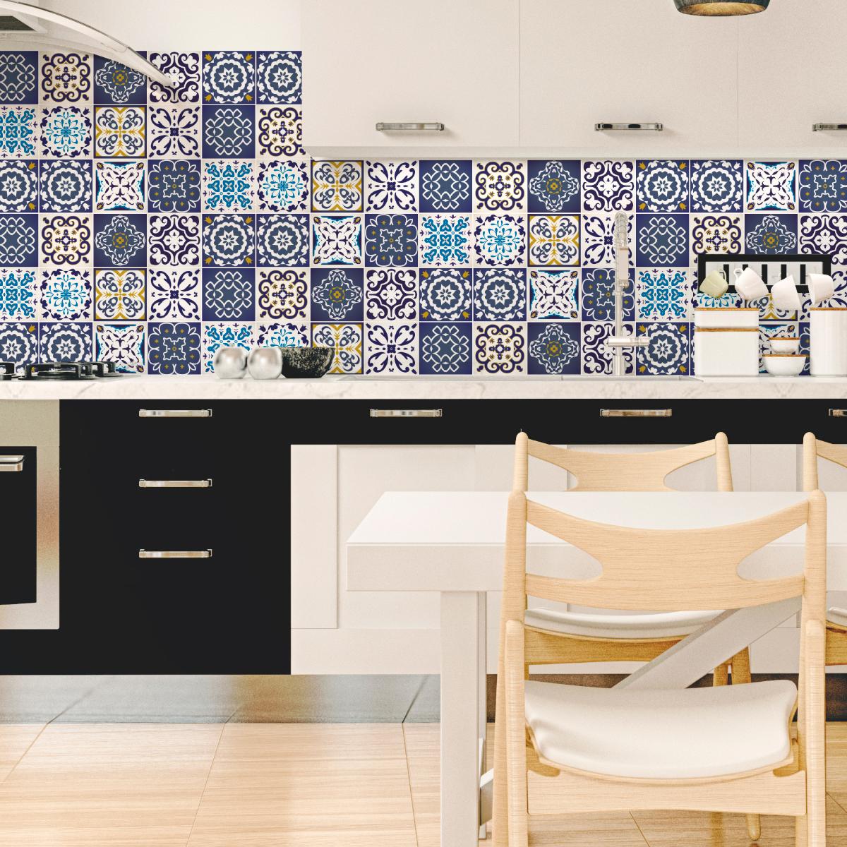 Accessoires Salle De Bain Azulejos ~ 12 stickers carrelages azulejos janeiro salle de bain et wc salle