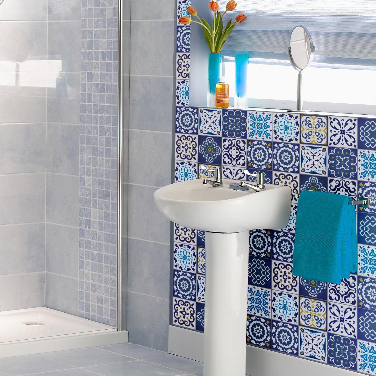 12 stickers carrelages azulejos janeiro cuisine. Black Bedroom Furniture Sets. Home Design Ideas