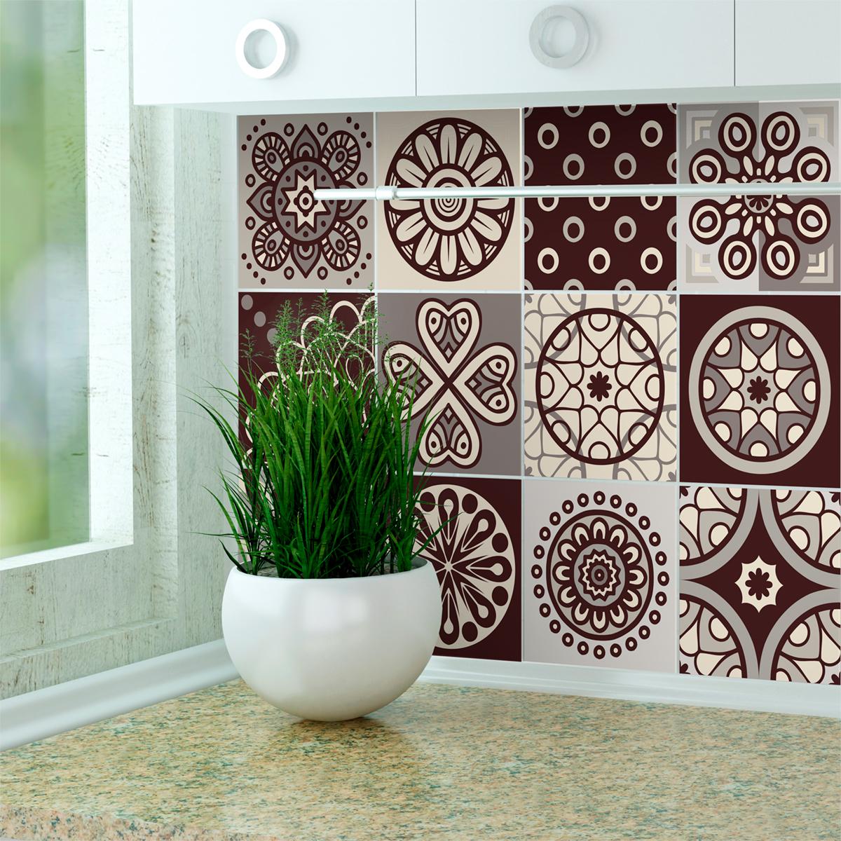 12 stickers carrelages azulejos pisco salle de bain et. Black Bedroom Furniture Sets. Home Design Ideas