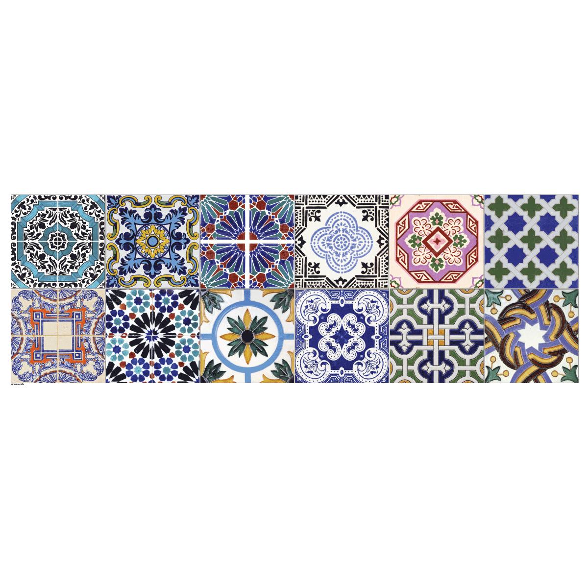 12 stickers carrelages ornements stickers art et design artistiques ambiance sticker. Black Bedroom Furniture Sets. Home Design Ideas