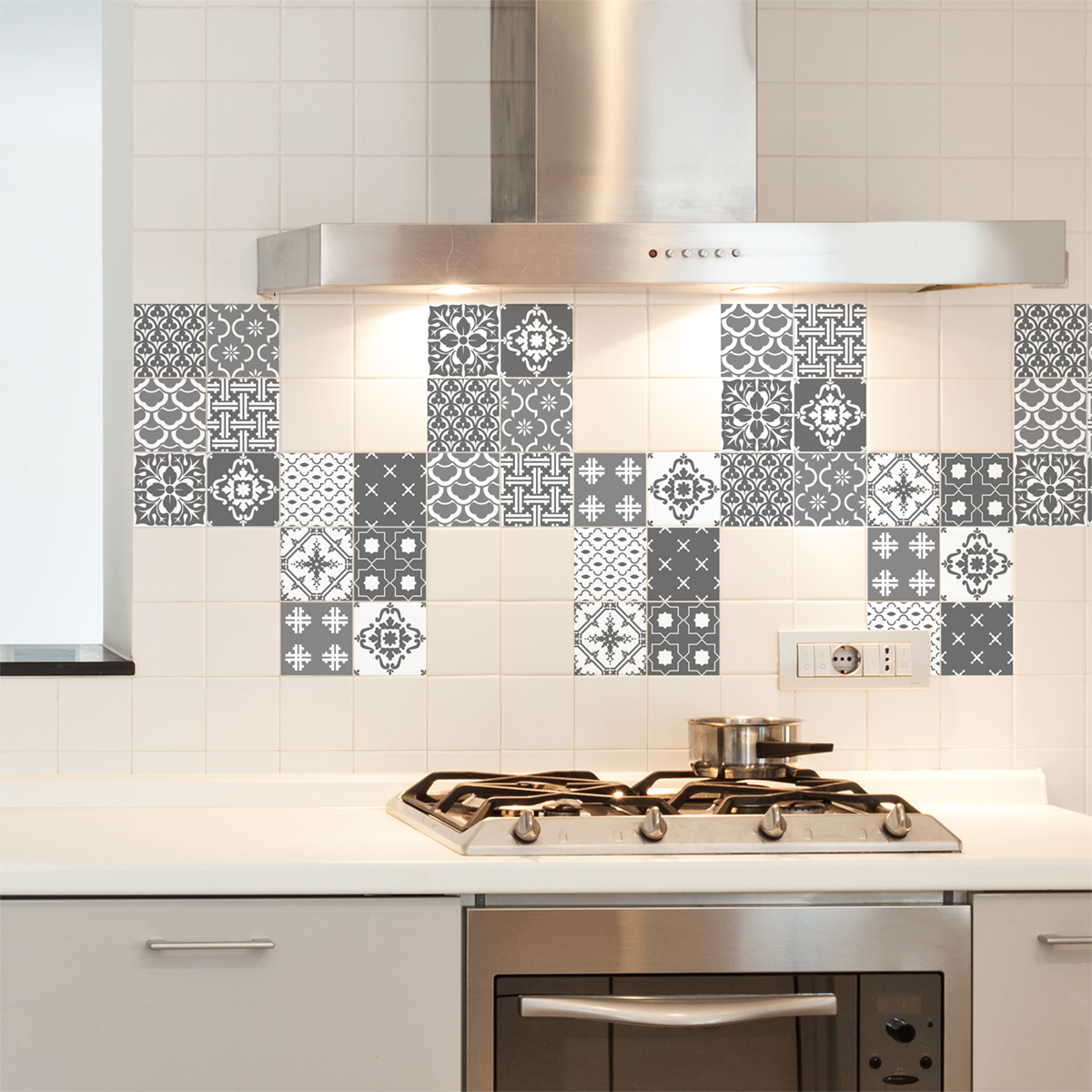12 stickers carrelages scandinaves oslo cuisine carrelages ambiance sticker - Stickers cuisine carrelage ...
