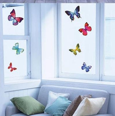 Sticker exotische vlinders ambiance sticker amb 58004 versier uw huis met muurstickers en - Badkamer zen natuur ...