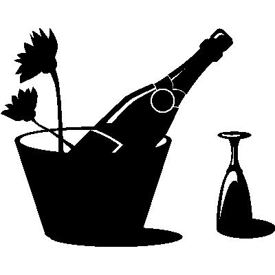 coupe de champagne stickers muraux cuisine. Black Bedroom Furniture Sets. Home Design Ideas