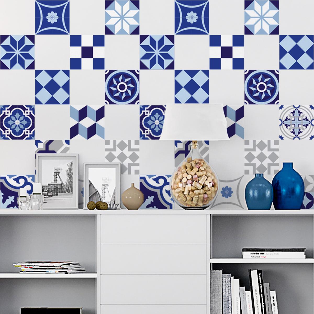 15 stickers carreaux de ciment argos cuisine carrelages ambiance sticker. Black Bedroom Furniture Sets. Home Design Ideas