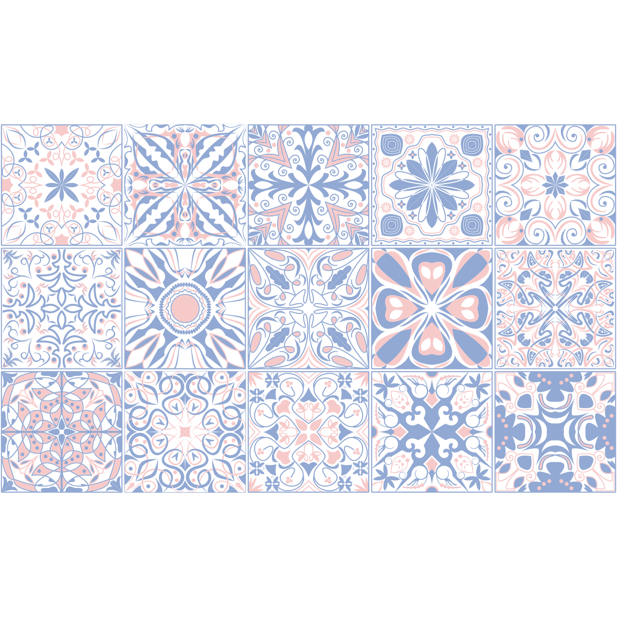 15 stickers carreaux de ciment bleu d 39 orient art et - Stickers carreaux de ciment ...
