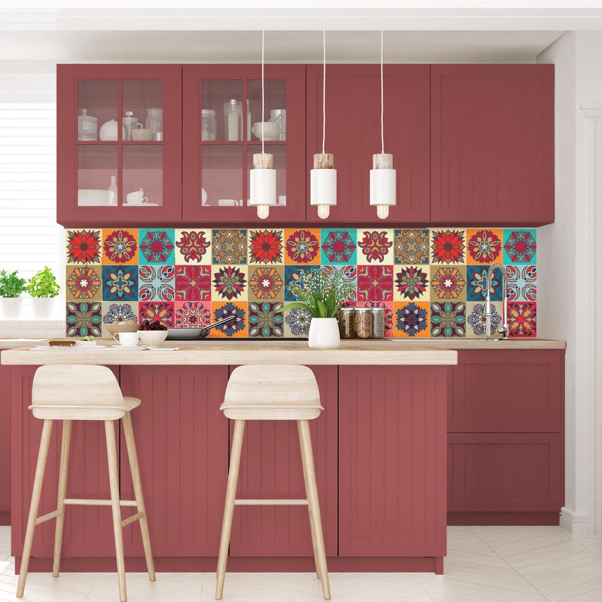 15 stickers carreaux de ciment ib rique art et design. Black Bedroom Furniture Sets. Home Design Ideas