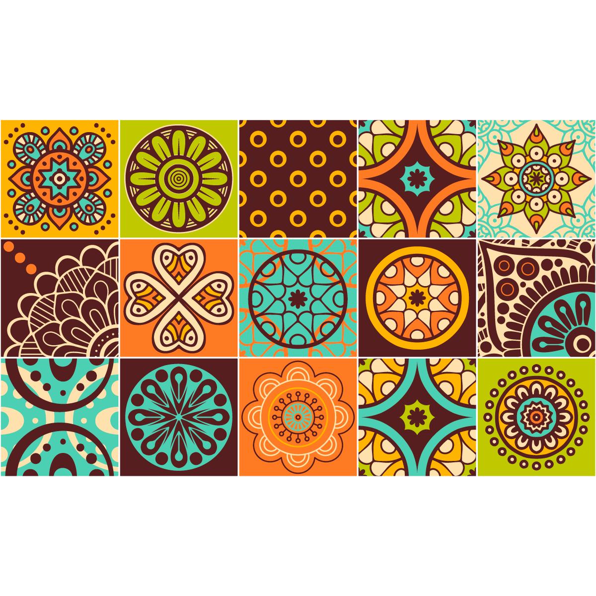 15 stickers carreaux de ciment rosario salle de bain et wc salle de bain ambiance sticker. Black Bedroom Furniture Sets. Home Design Ideas