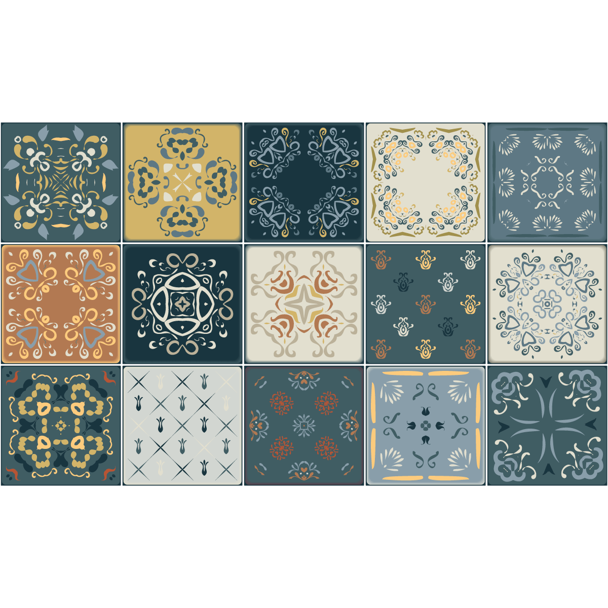 15 stickers carrelages azulejos r o cuarto salle de bain. Black Bedroom Furniture Sets. Home Design Ideas