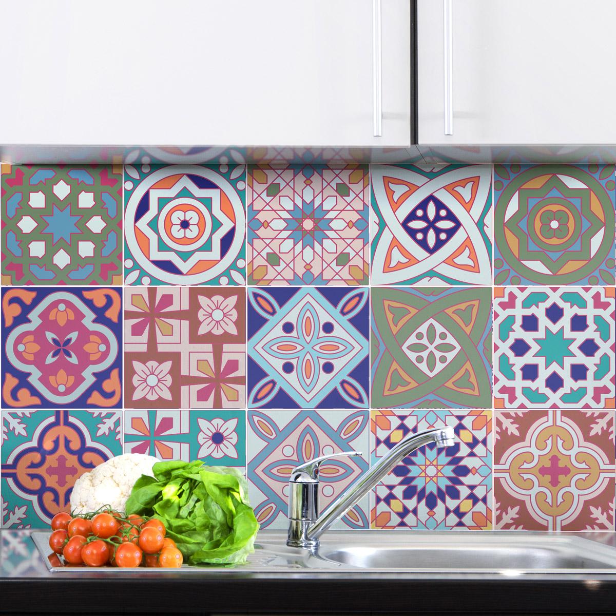 15 stickers carrelages azulejos venise art et design. Black Bedroom Furniture Sets. Home Design Ideas
