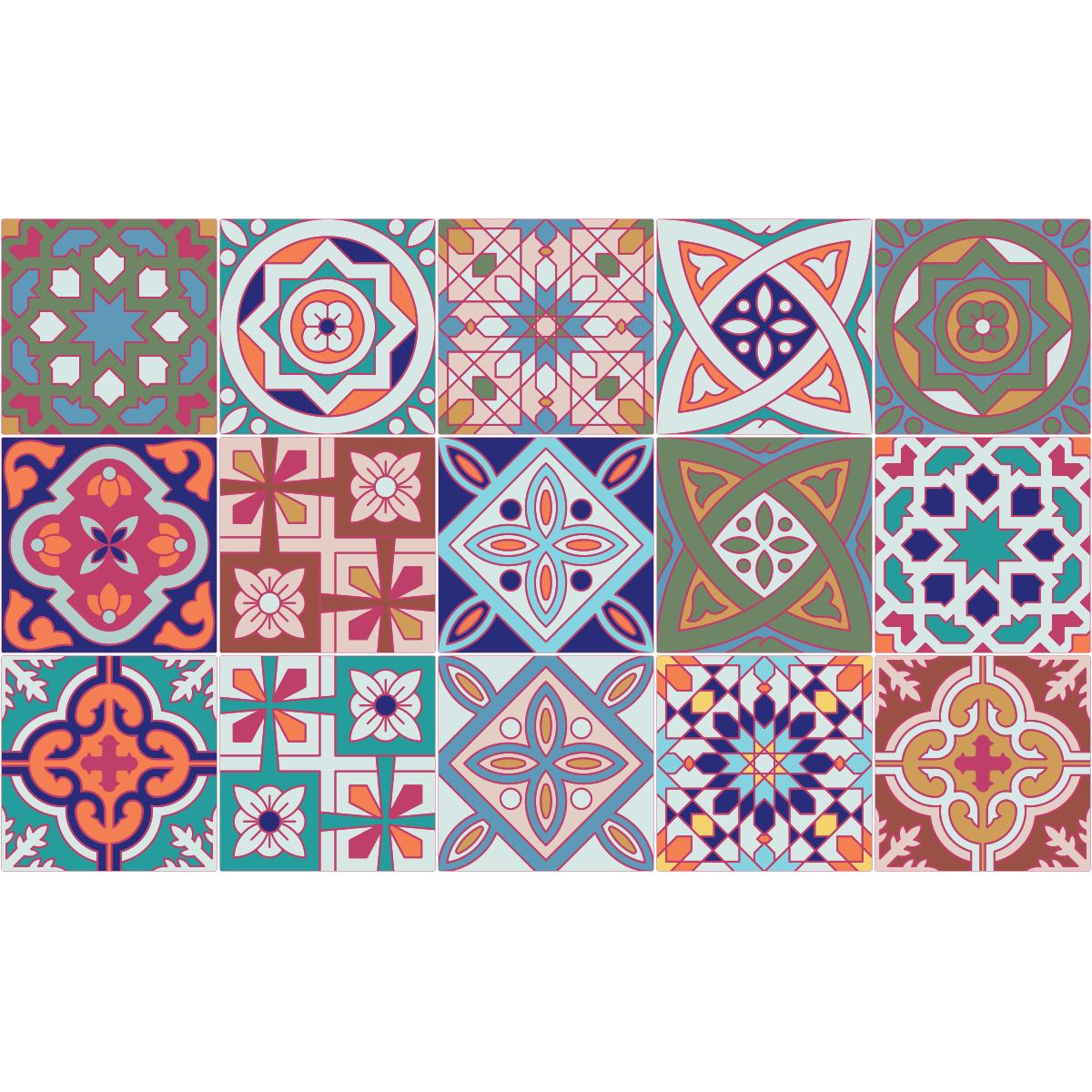 15 stickers carrelages azulejos venise art et design artistiques ambiance sticker. Black Bedroom Furniture Sets. Home Design Ideas