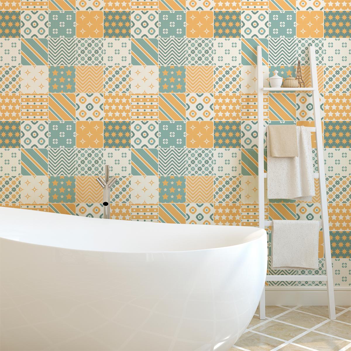 16 stickers carreaux de ciment scandinave boden salle de bain et wc salle de bain ambiance. Black Bedroom Furniture Sets. Home Design Ideas