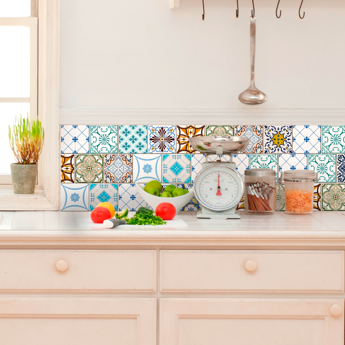 16 stickers carrelages azulejos artistiques mosa ques. Black Bedroom Furniture Sets. Home Design Ideas