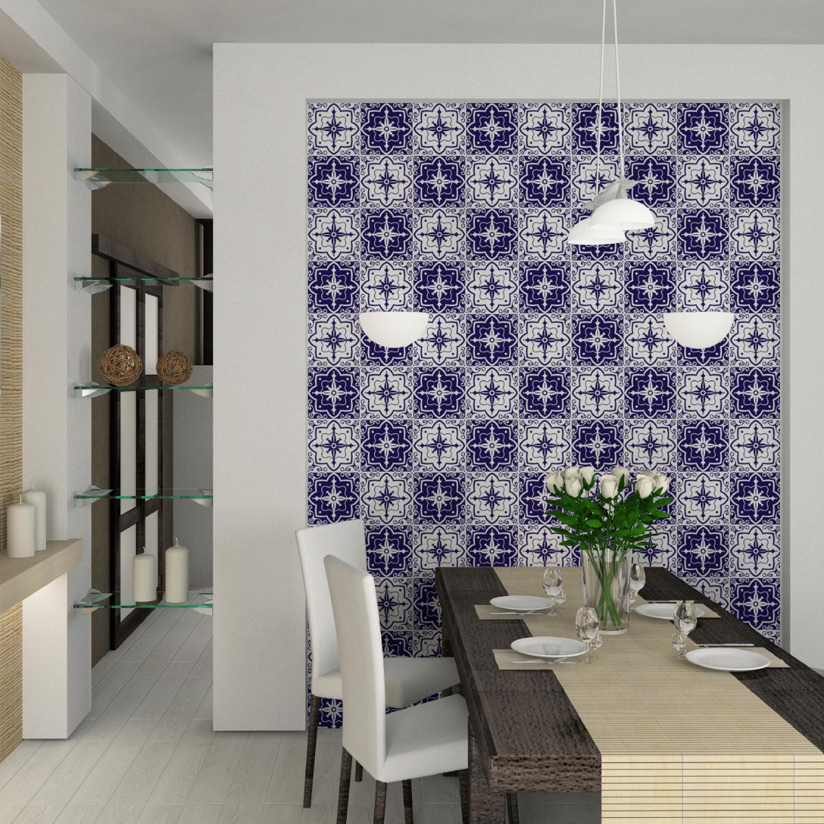 24 stickers carreaux de ciment araceli salle de bain et wc salle de bain ambiance sticker. Black Bedroom Furniture Sets. Home Design Ideas