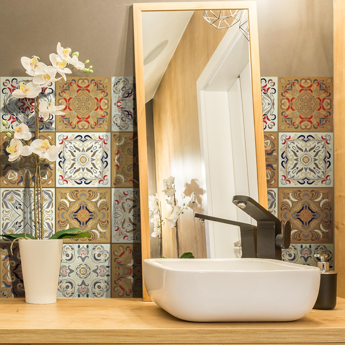 24 stickers carreaux de ciment azulejos bonifacio. Black Bedroom Furniture Sets. Home Design Ideas