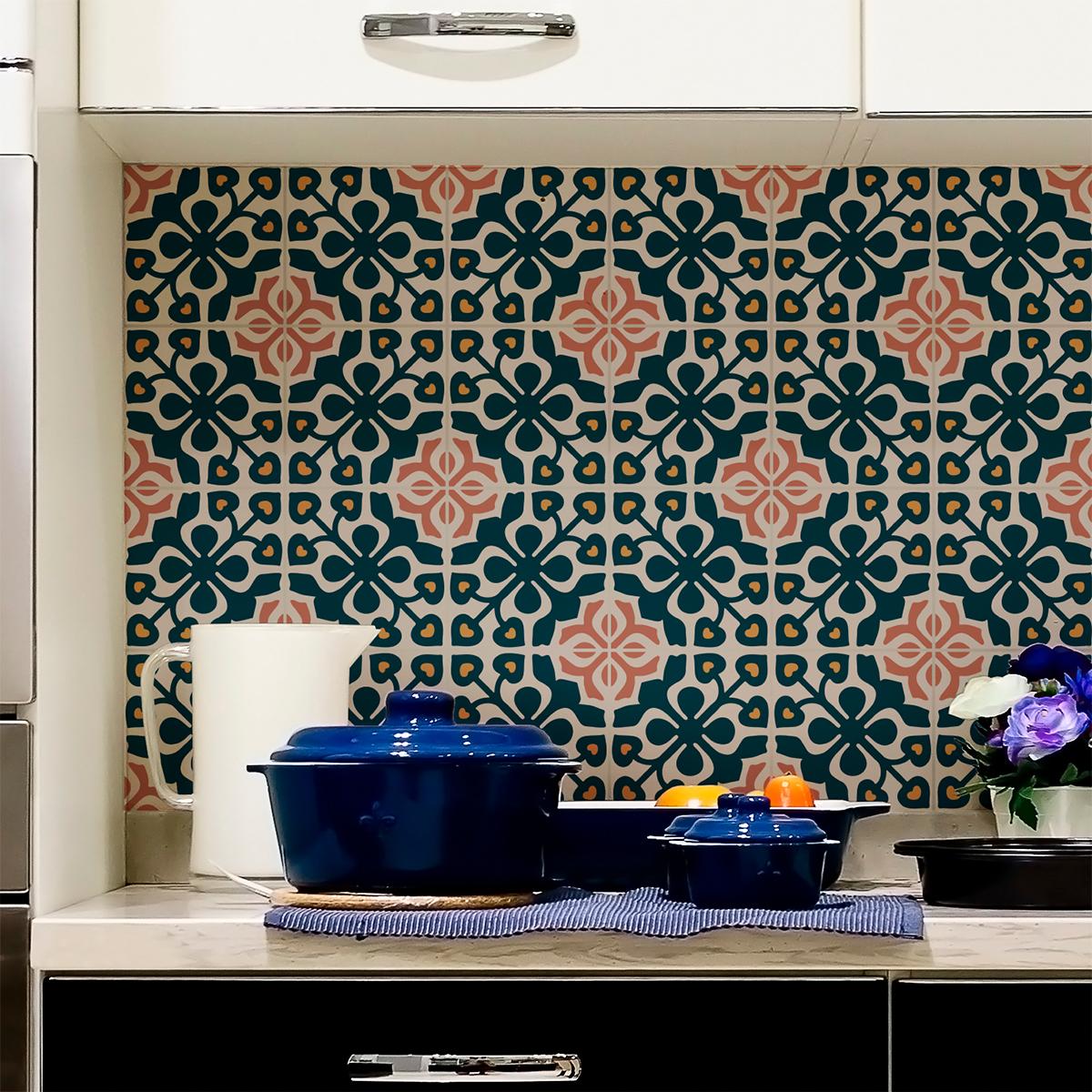 24 stickers carreaux de ciment azulejos callidora. Black Bedroom Furniture Sets. Home Design Ideas