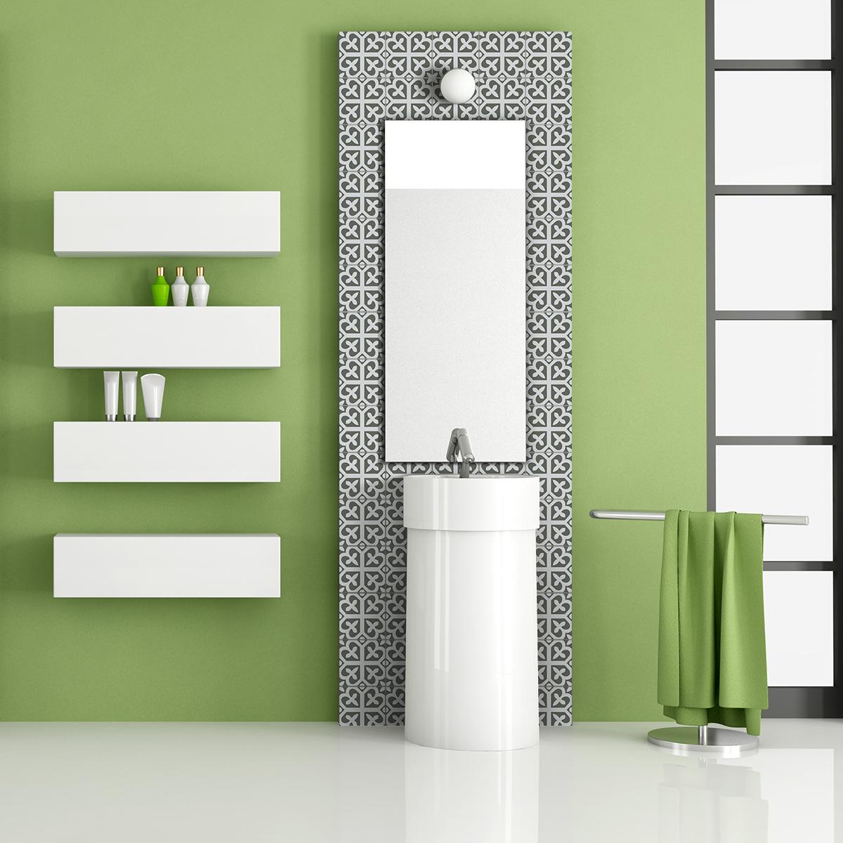 24 stickers carreaux de ciment azulejos cara cuisine. Black Bedroom Furniture Sets. Home Design Ideas