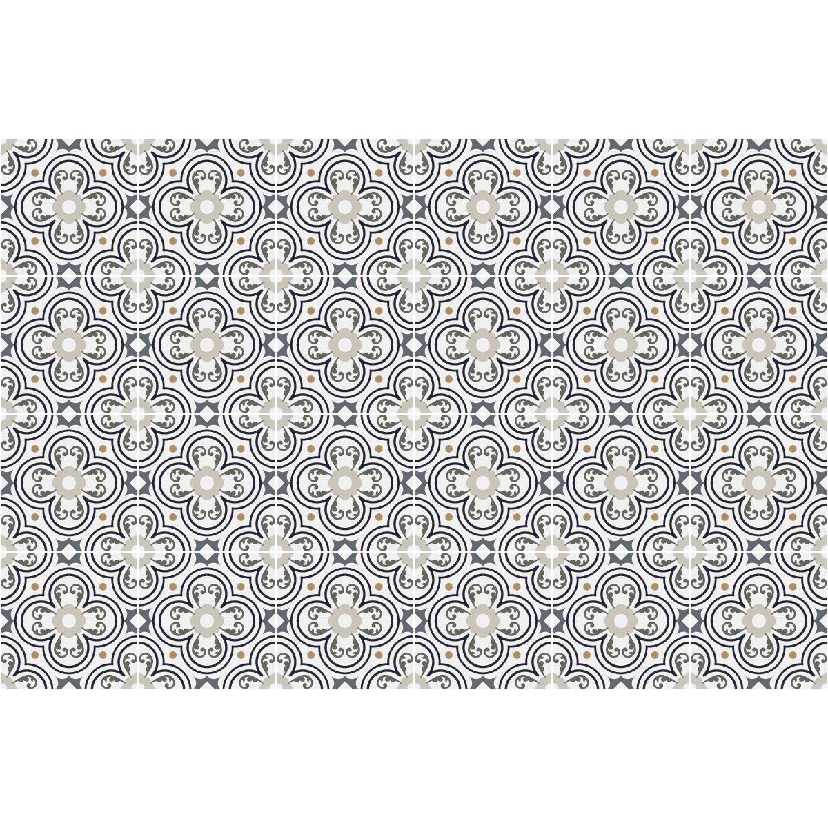 24 stickers carreaux de ciment azulejos graciano cuisine. Black Bedroom Furniture Sets. Home Design Ideas