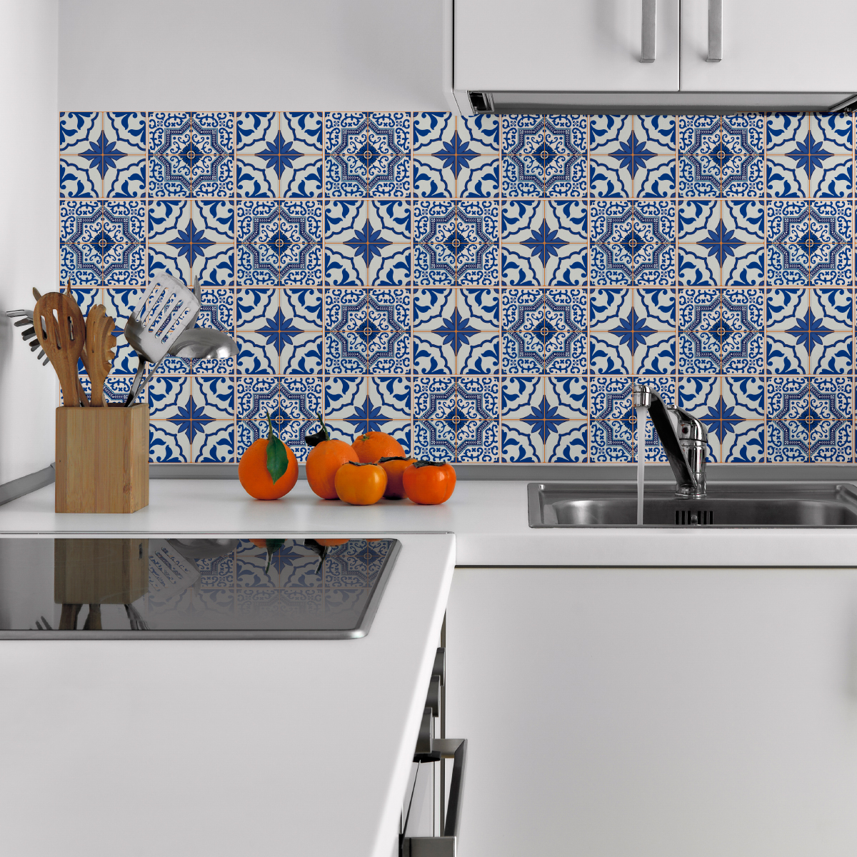 24 stickers carreaux de ciment azulejos rodrigo salle de bain et wc salle de bain ambiance. Black Bedroom Furniture Sets. Home Design Ideas