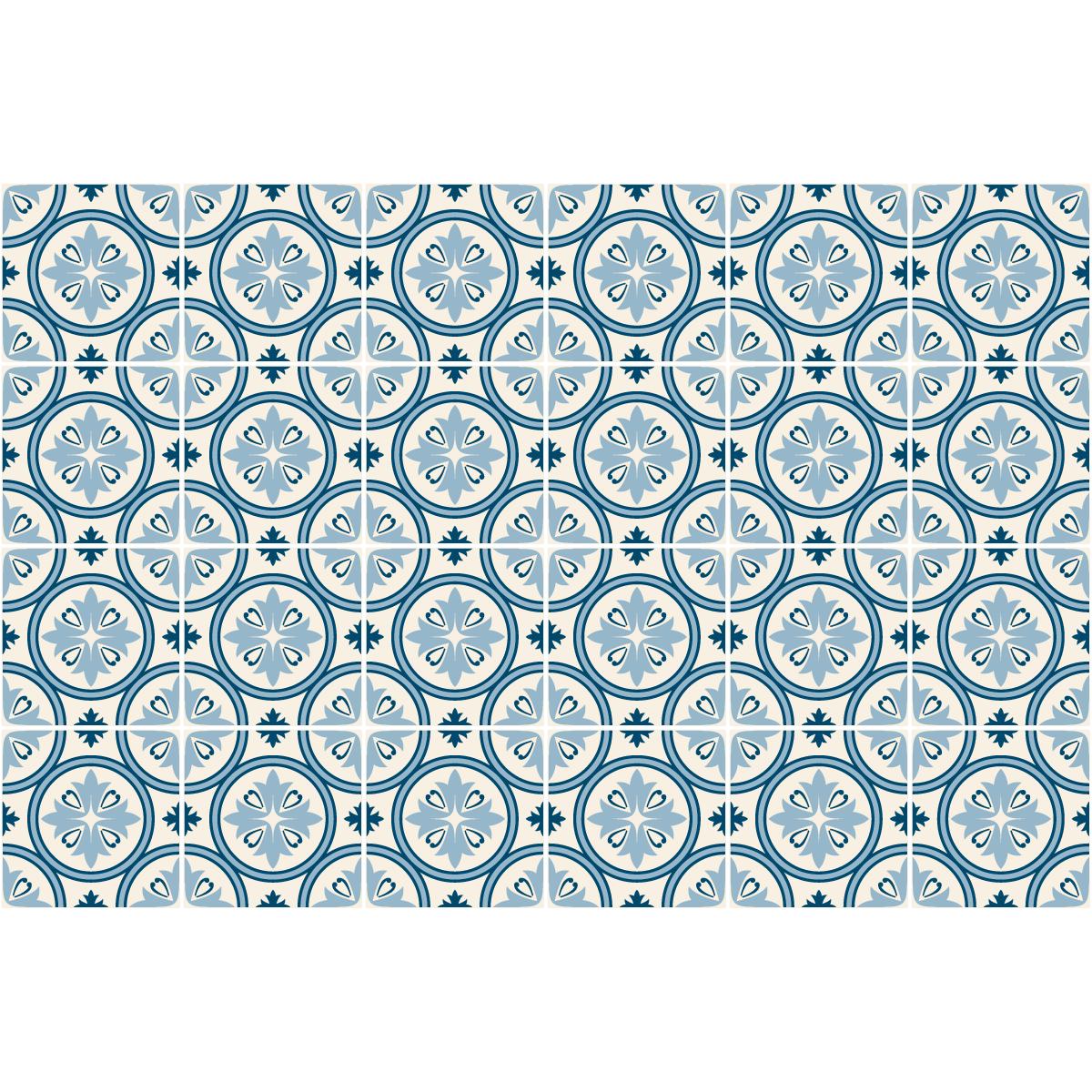 24 stickers carreaux de ciment azulejos tialo cuisine. Black Bedroom Furniture Sets. Home Design Ideas
