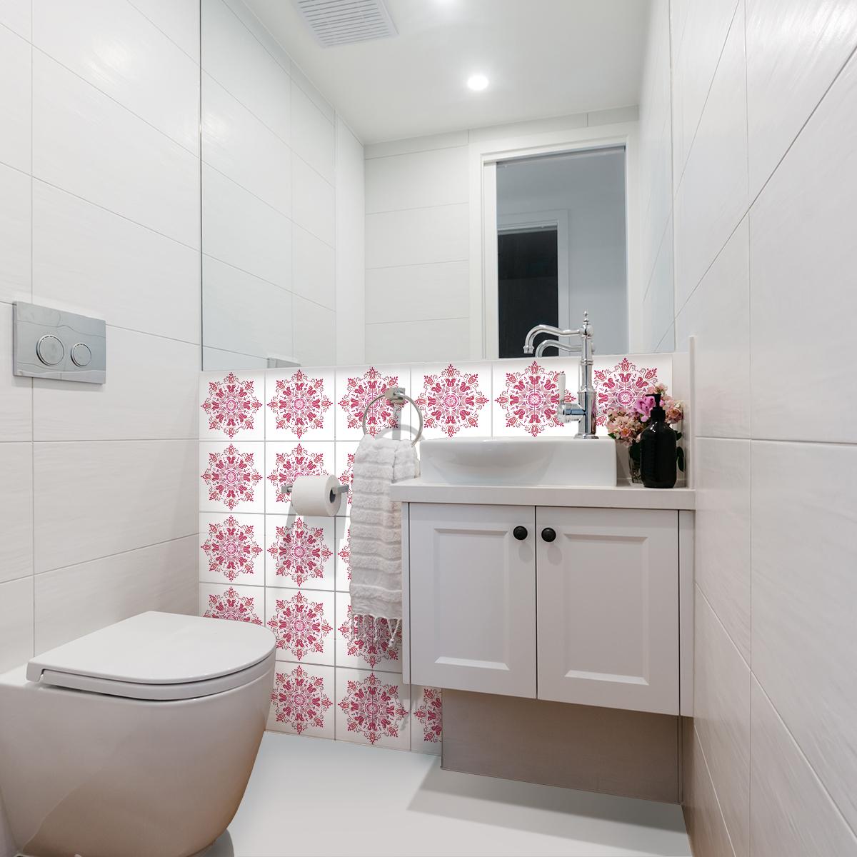 24 stickers carreaux de ciment boh me karukera cuisine. Black Bedroom Furniture Sets. Home Design Ideas