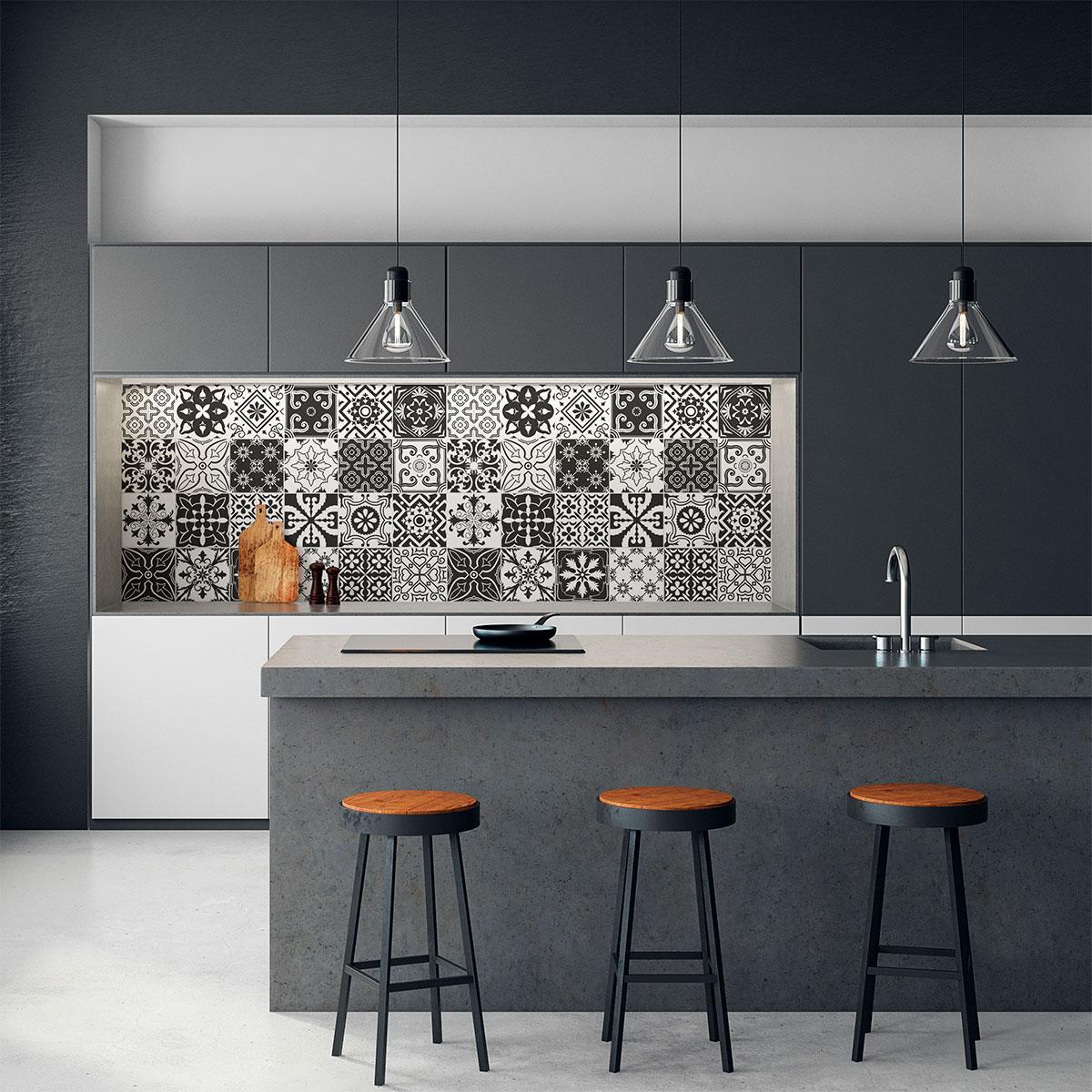 24 stickers carrelages azulejos amali da cuisine carrelages ambiance sticker. Black Bedroom Furniture Sets. Home Design Ideas