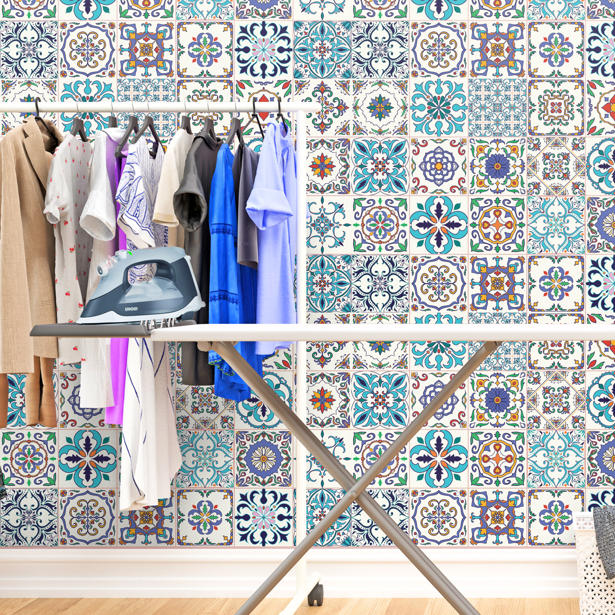 24 stickers carrelages azulejos athena cuisine carrelages ambiance sticker. Black Bedroom Furniture Sets. Home Design Ideas