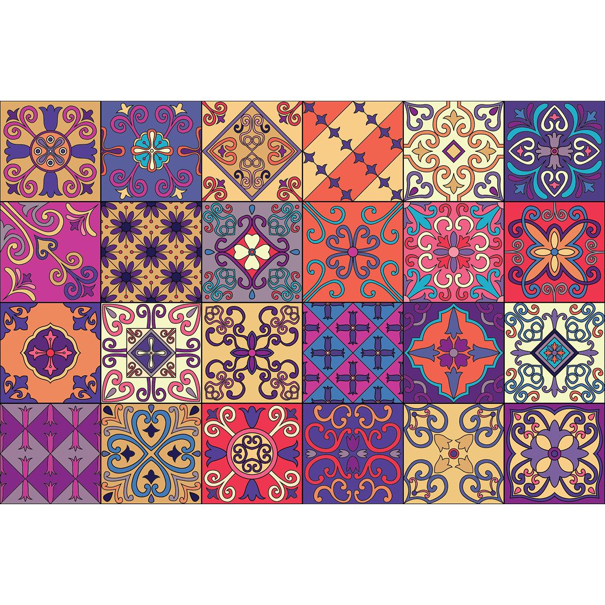 24 stickers carrelages azulejos duilo cuisine carrelages for Stickers carrelage 20x20