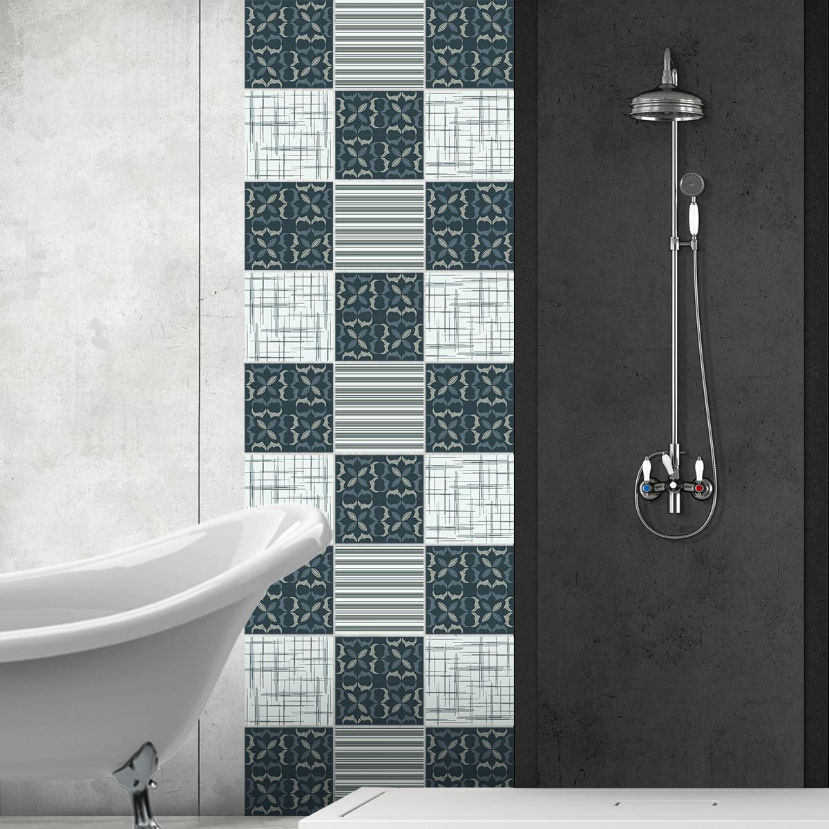 24 stickers carrelages azulejos egidio cuisine carrelages ambiance sticker. Black Bedroom Furniture Sets. Home Design Ideas