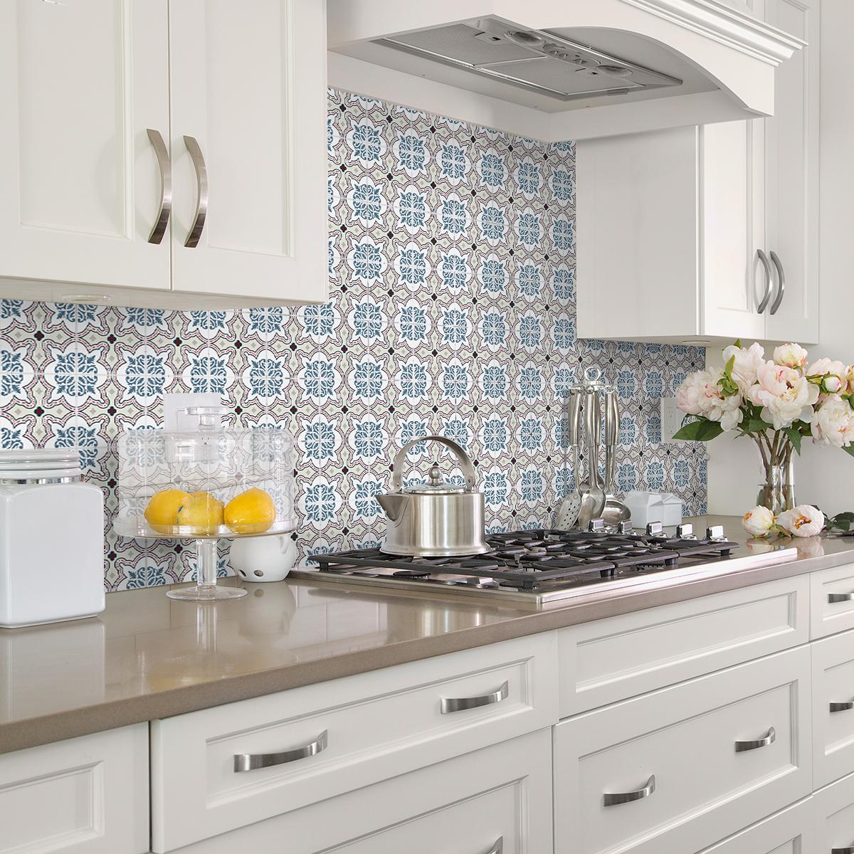 24 stickers carrelages azulejos esp ranza cuisine - Stickers cuisine carrelage ...