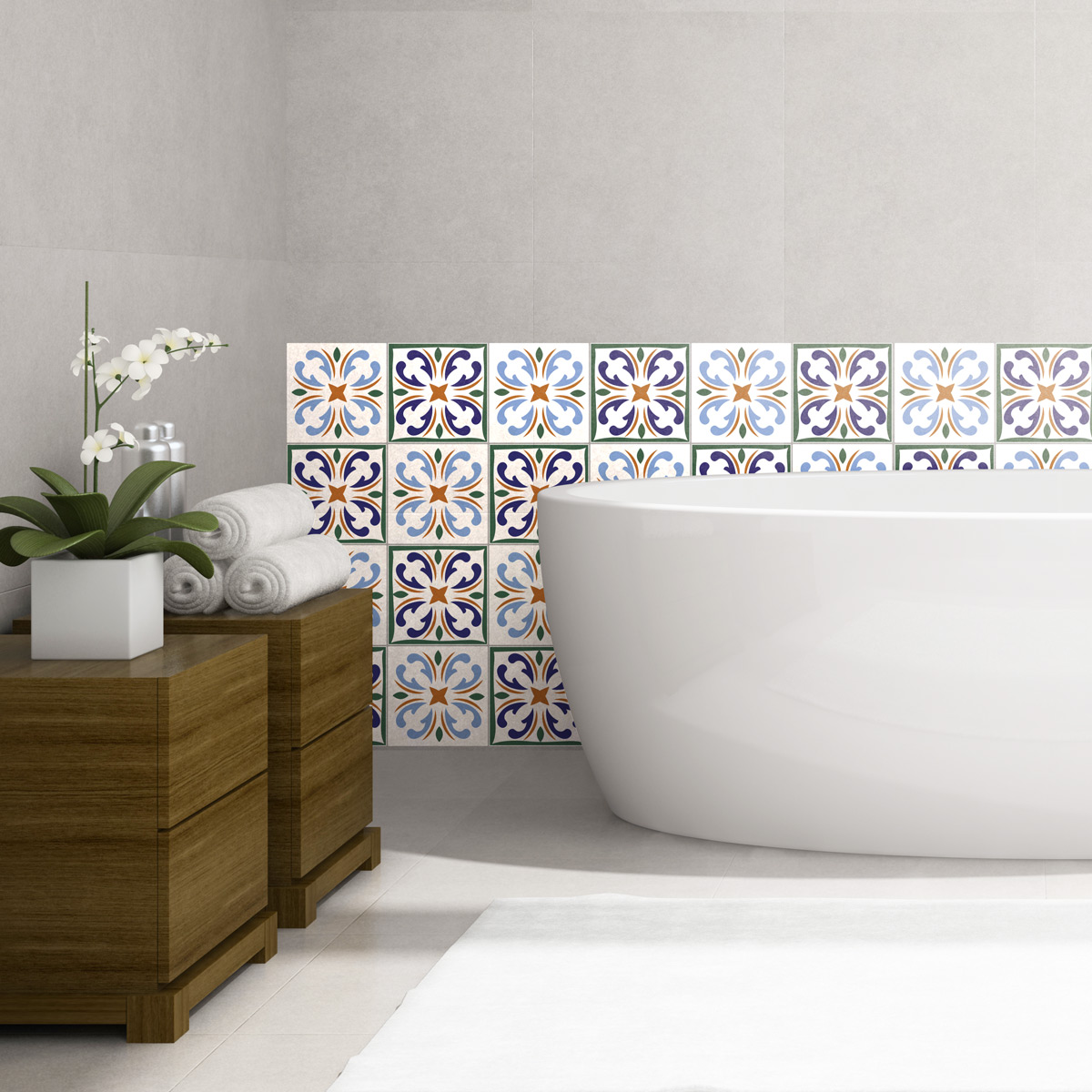 24 stickers carrelages azulejos faro cuisine carrelages. Black Bedroom Furniture Sets. Home Design Ideas