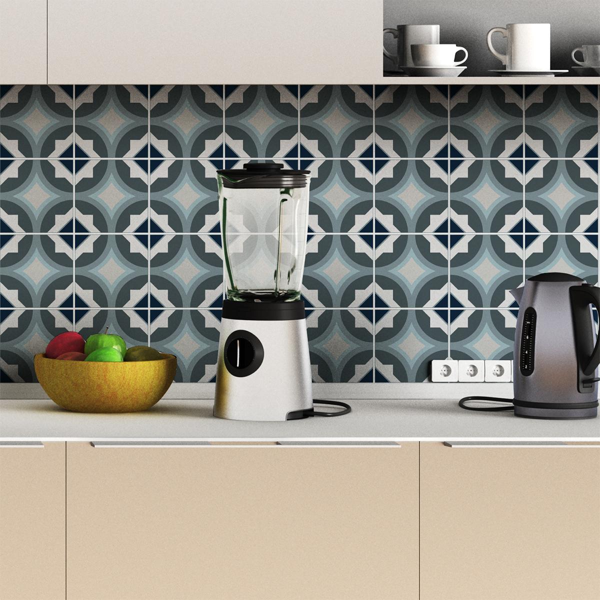 24 stickers carrelages azulejos georgetta cuisine - Stickers cuisine carrelage ...