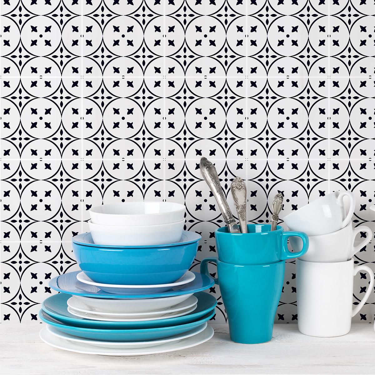 24 stickers carrelages azulejos giulio cuisine for Stickers carrelage 20x20