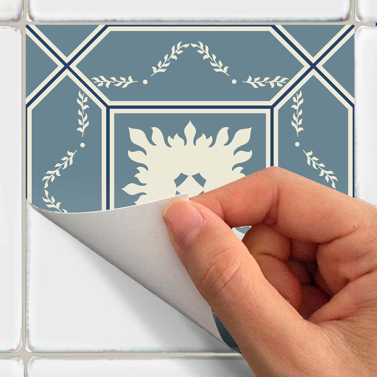 24 stickers carrelages azulejos laurenzo cuisine carrelages ambiance sticker. Black Bedroom Furniture Sets. Home Design Ideas