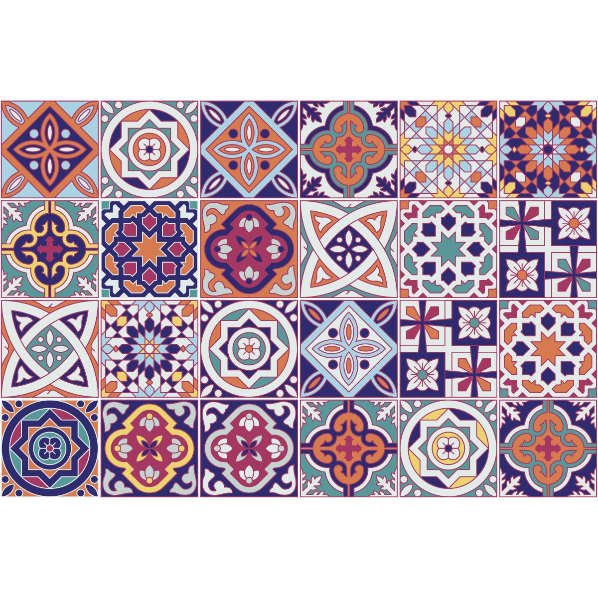 24 stickers carrelages azulejos loreto cuisine - Sticker carrelage cuisine ...