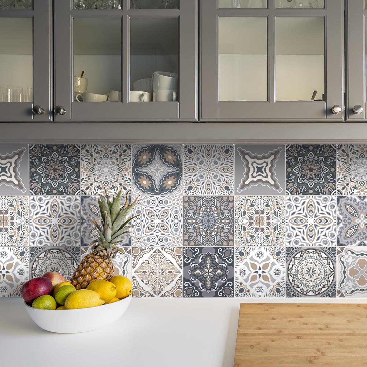 24 stickers carrelages azulejos nello cuisine carrelages ambiance sticker. Black Bedroom Furniture Sets. Home Design Ideas