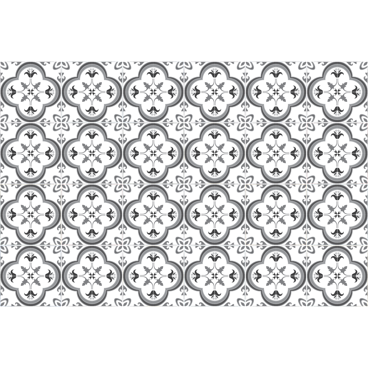 24 stickers carrelages azulejos nuance de gris somptueux art et design artistiques ambiance. Black Bedroom Furniture Sets. Home Design Ideas