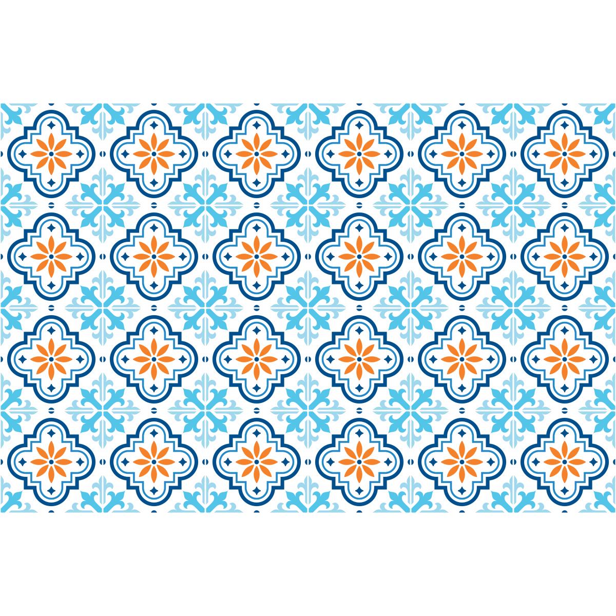 24 stickers carrelages azulejos ornements arabesque art et design artistiques ambiance sticker. Black Bedroom Furniture Sets. Home Design Ideas