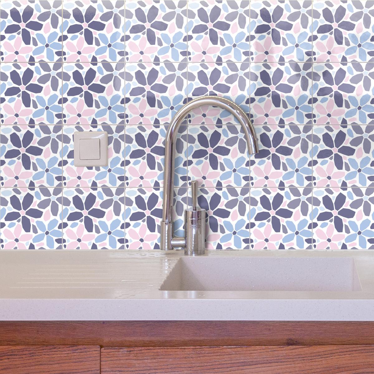 24 stickers carrelages azulejos ornements raffin art et design artistiques ambiance sticker. Black Bedroom Furniture Sets. Home Design Ideas