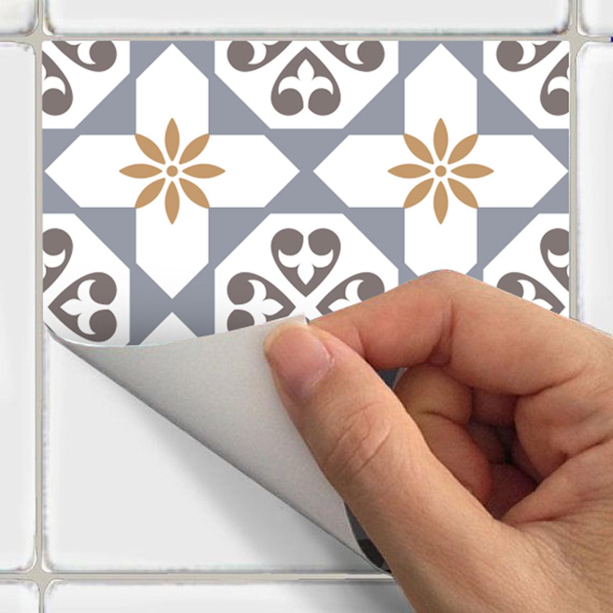 24 stickers carrelages azulejos ornements sobres art et design artistiques ambiance sticker. Black Bedroom Furniture Sets. Home Design Ideas