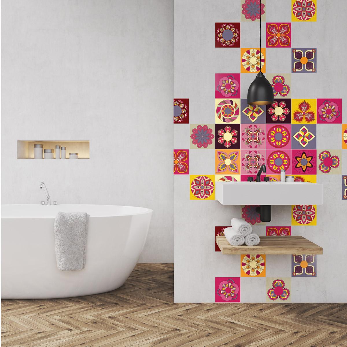 24 stickers carrelages azulejos porto alegre cuisine. Black Bedroom Furniture Sets. Home Design Ideas