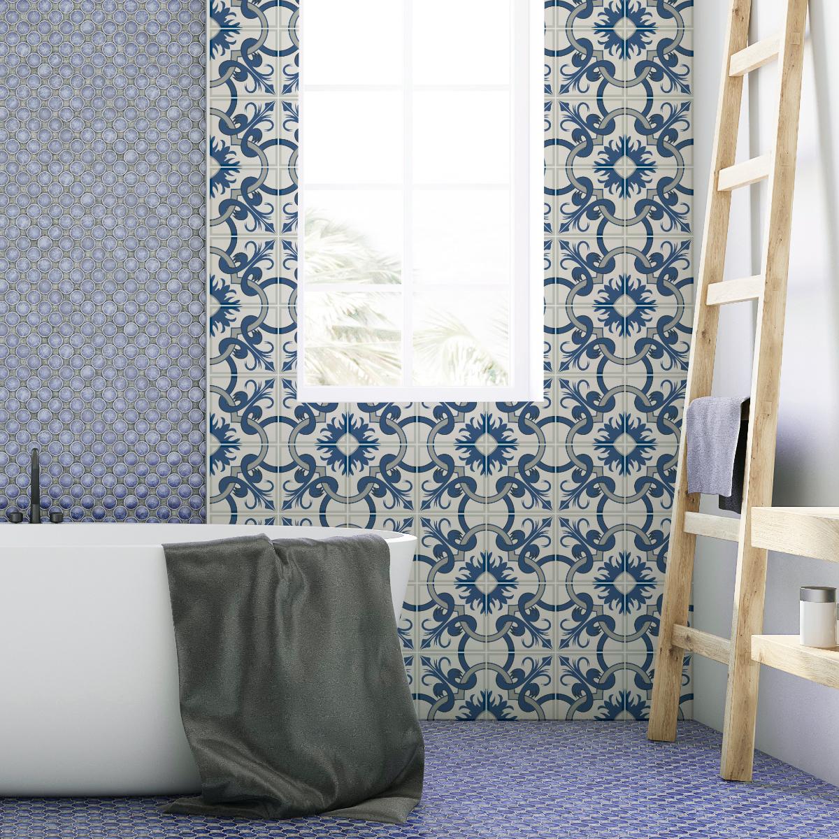 24 stickers carrelages azulejos porzia salle de bain et wc salle de bain ambiance sticker. Black Bedroom Furniture Sets. Home Design Ideas
