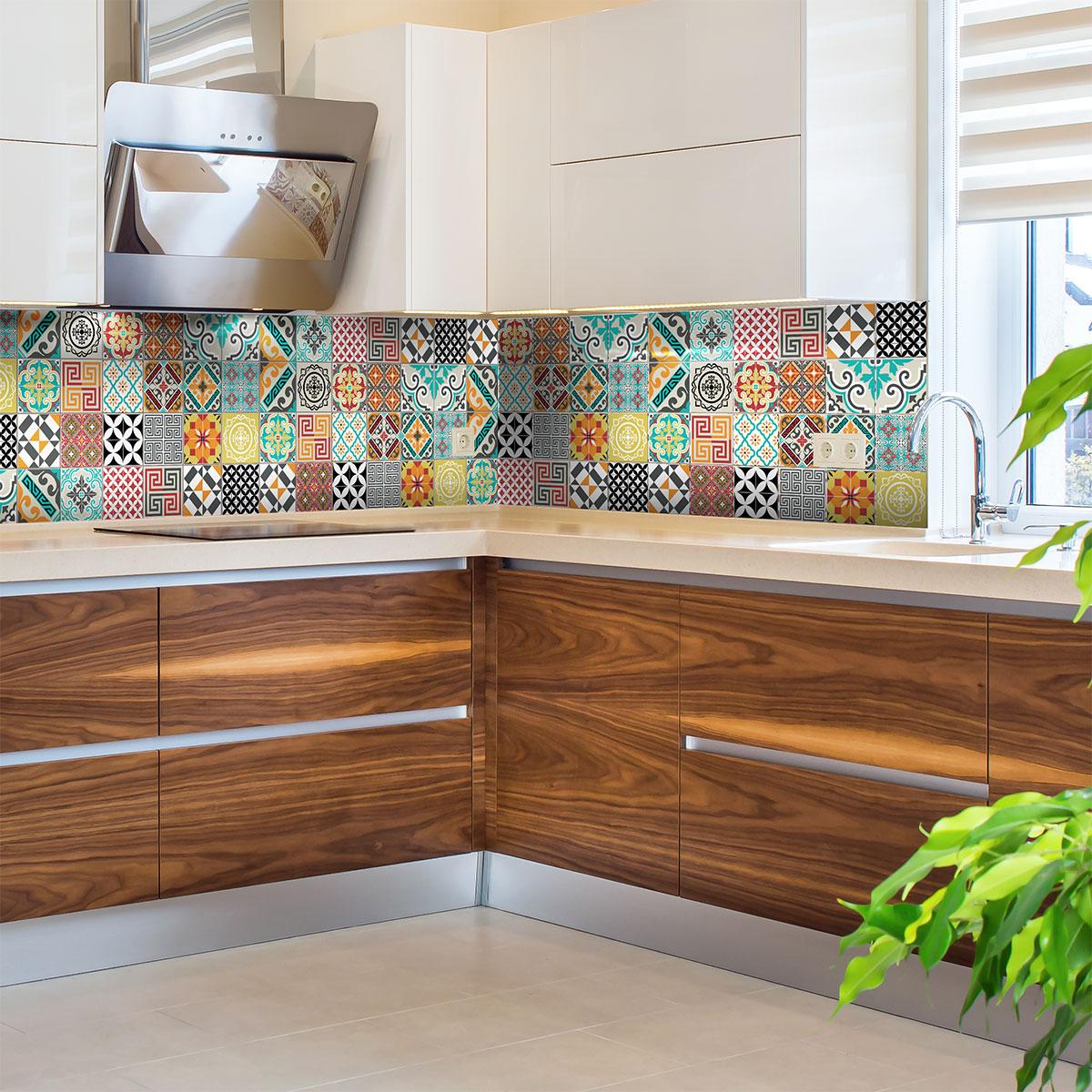 24 stickers carrelages azulejos tina cuisine carrelages ambiance sticker. Black Bedroom Furniture Sets. Home Design Ideas