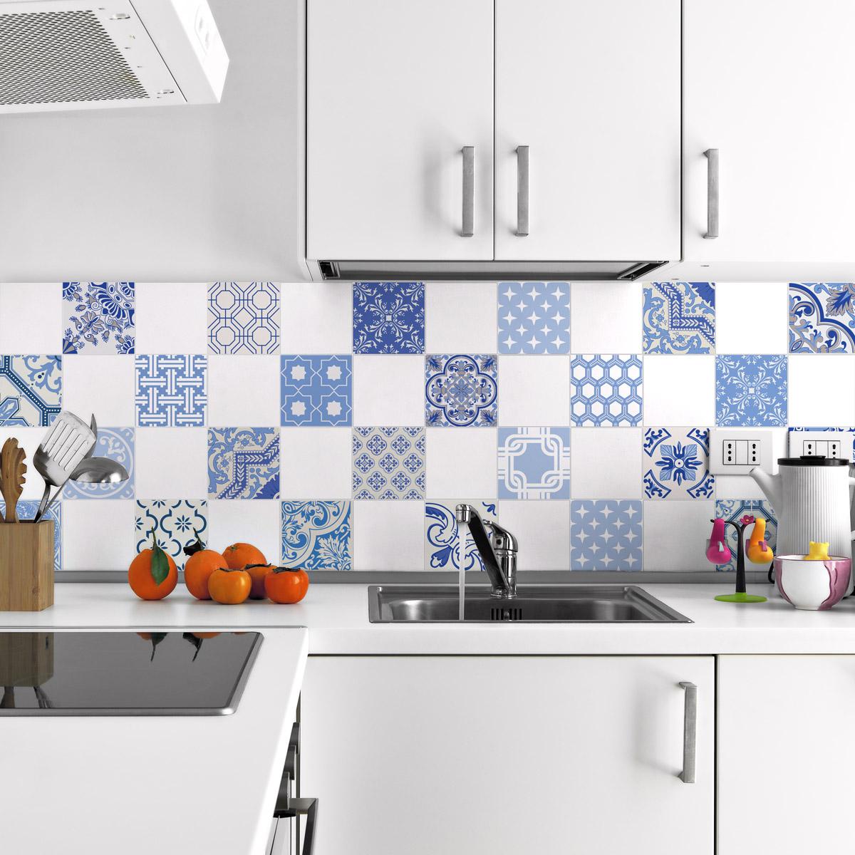 24 stickers carrelages ornements v nitien art et design. Black Bedroom Furniture Sets. Home Design Ideas