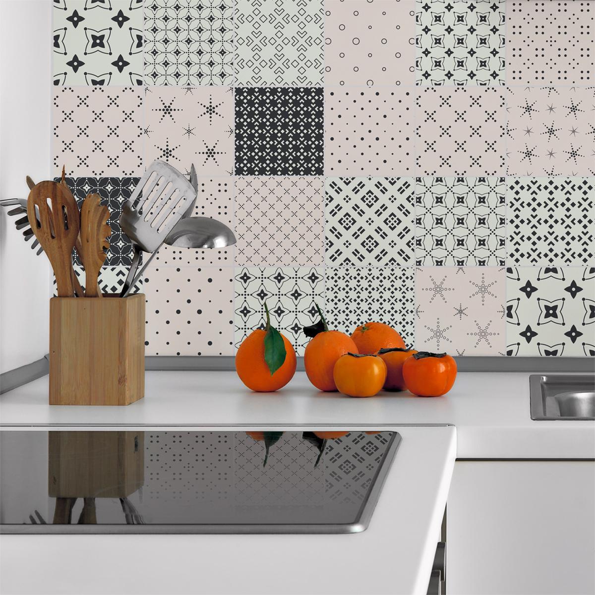 24 stickers carrelages scandinave gerd salle de bain et for Carrelage salle de bain scandinave