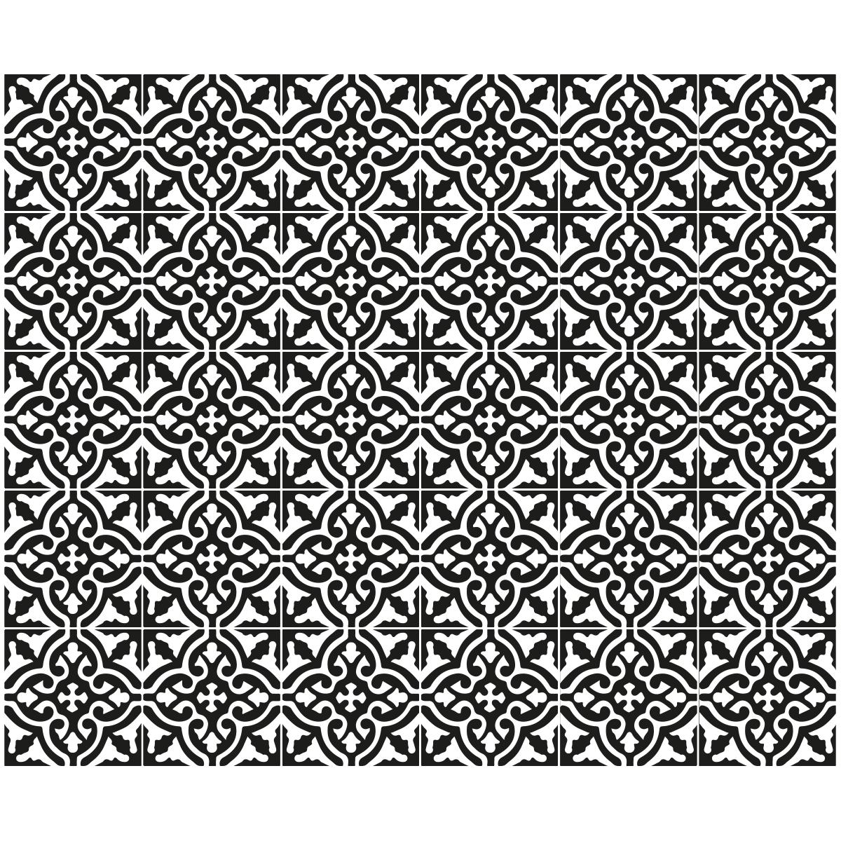 30 stickers carreaux de ciment bucarest salle de bain et wc salle de bain ambiance sticker. Black Bedroom Furniture Sets. Home Design Ideas