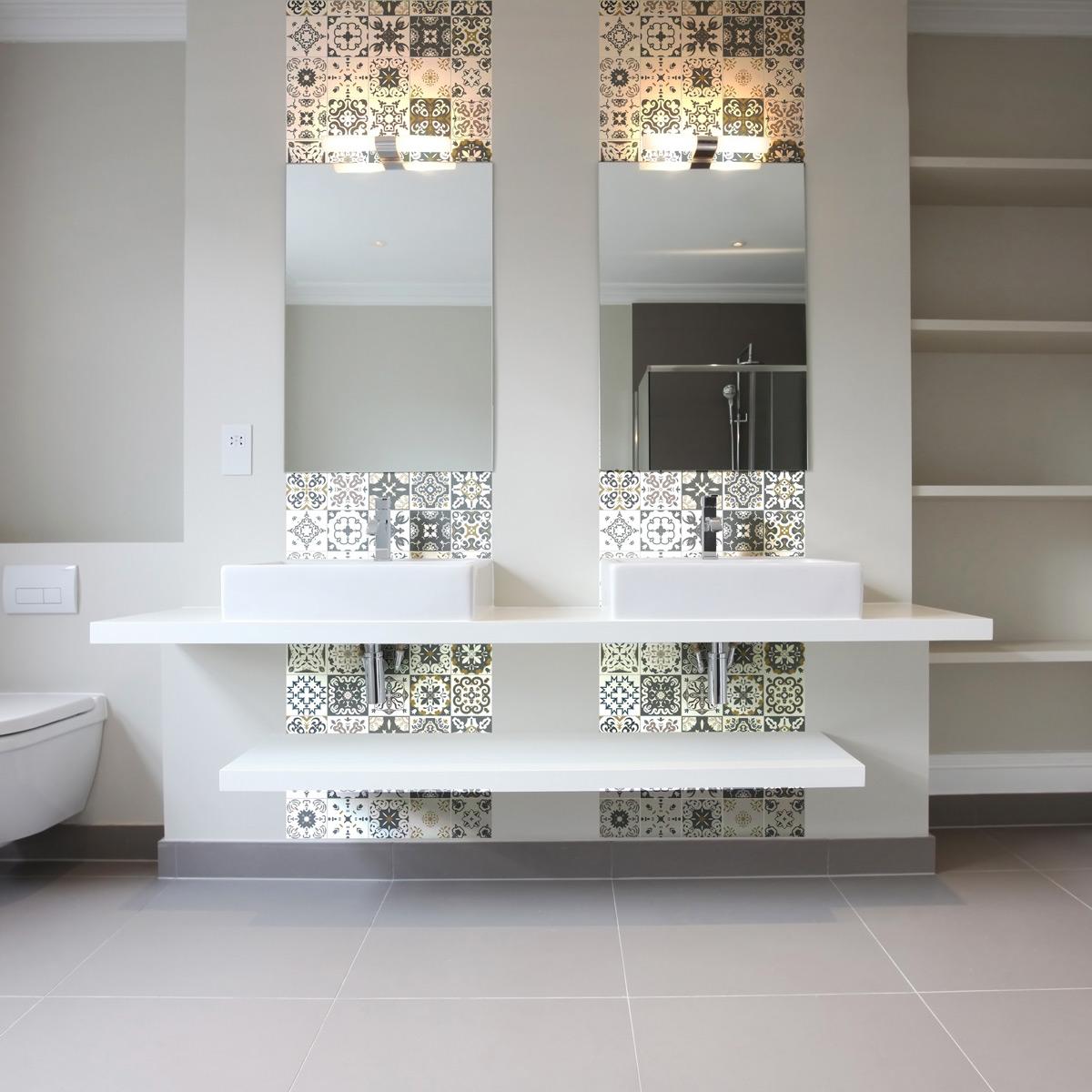 30 stickers carreaux de ciment antalya cuisine carrelages ambiance sticker. Black Bedroom Furniture Sets. Home Design Ideas