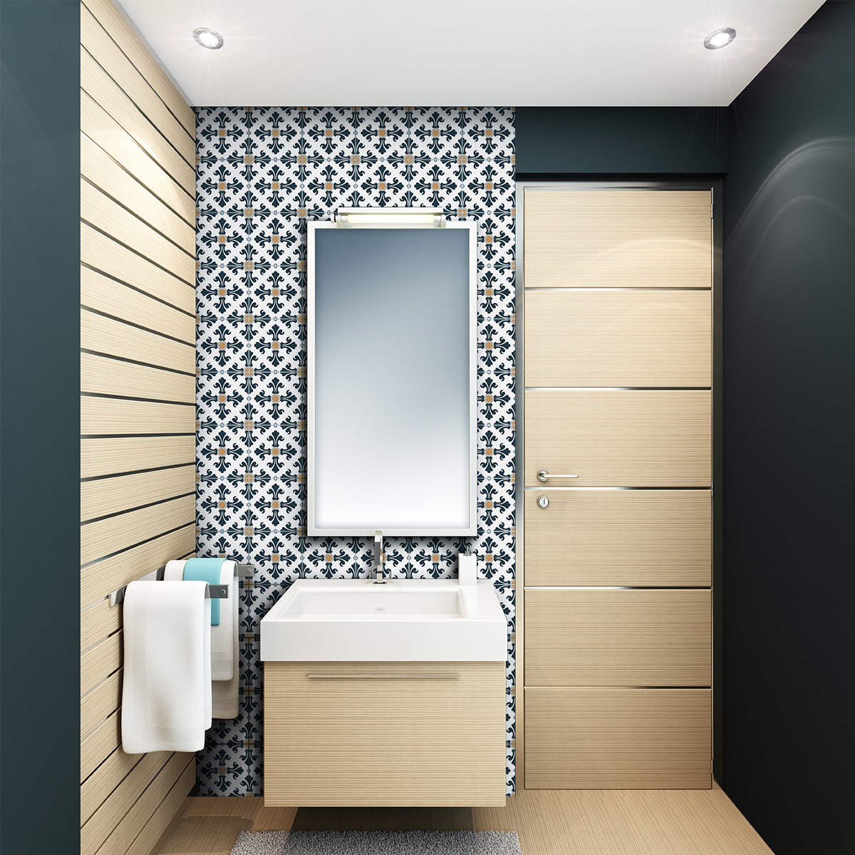 30 stickers carreaux de ciment azulejos aniela cuisine. Black Bedroom Furniture Sets. Home Design Ideas