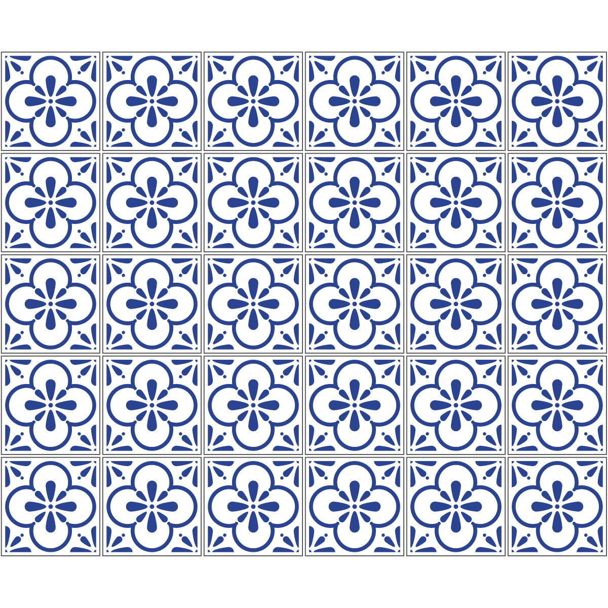 30 stickers carreaux de ciment azulejos aroha cuisine. Black Bedroom Furniture Sets. Home Design Ideas