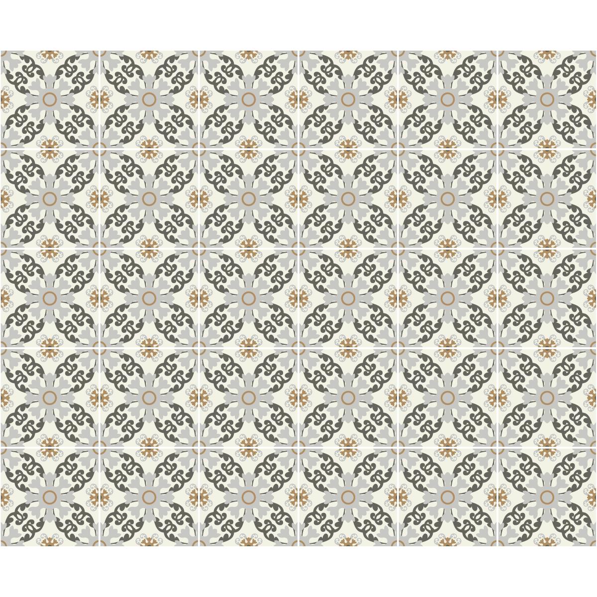 30 stickers carreaux de ciment azulejos belmiro cuisine. Black Bedroom Furniture Sets. Home Design Ideas